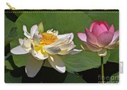 Lotus Pink -- Lotus White And Gold Carry-all Pouch
