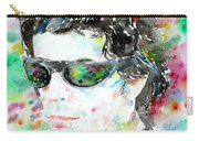 Lou Reed Watercolor Portrait.2 Carry-all Pouch