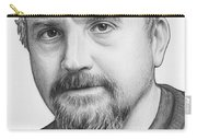 Louis Ck Portrait Carry-all Pouch by Olga Shvartsur