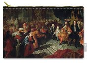 Louis Xiv 1638-1715 Receiving The Persian Ambassador Mohammed Reza Beg In The Galerie Des Glaces Carry-all Pouch