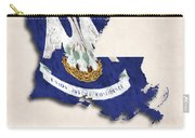 Louisiana Map Art With Flag Design Carry-all Pouch
