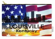 Louisville Ky Patriotic Large Cityscape Carry-all Pouch