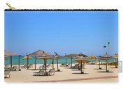 Lounging At The Beach Carry-all Pouch by Corinne Rhode