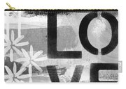 Love- Abstract Painting Carry-all Pouch by Linda Woods