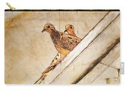 Love Birds On My Balcony Carry-all Pouch