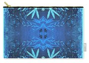 Love Blossom Ocean Turquoise Border Carry-all Pouch
