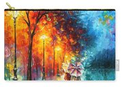 Love By The Lake - Palette Knife Oil Painting On Canvas By Leonid Afremov Carry-all Pouch