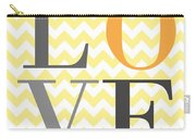 Love Chevron Yellow Carry-all Pouch