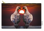 Love Dove Birds At Sunset Carry-all Pouch