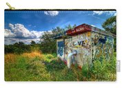 Love Graffiti Covered Building In Field Carry-all Pouch
