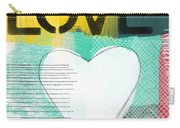 Love Graffiti Style- Print Or Greeting Card Carry-all Pouch by Linda Woods