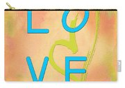 Love In Bright Blue Carry-all Pouch