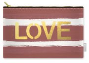 Love In Gold And Marsala Carry-all Pouch