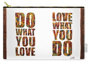 Love In Life Acrylic Palette Knife Painting Carry-all Pouch