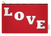 Love In White On Red Carry-all Pouch