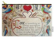 Love Is Carry-all Pouch