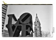 Love Is Just Black And White Carry-all Pouch