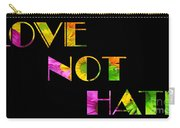 Love Not Hate Crazy Daisies Black Carry-all Pouch