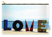 Love On The Beach Found Art Outer Banks Carry-all Pouch