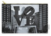 Love Park Bw Carry-all Pouch by Susan Candelario