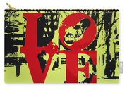 Love - Red On Lime Carry-all Pouch