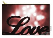 Love Sign With Red Sparkle Carry-all Pouch
