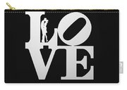 Love Typography And Kissing Couple Carry-all Pouch