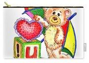 Love You Teddy Bear Carry-all Pouch