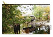 Lovejoy Covered Bridge And Moose Carry-all Pouch