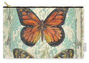 Lovely Butterfly Trio On Tin Tile Carry-all Pouch