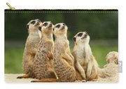 Lovely Group Of Meerkats Carry-all Pouch
