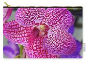 Orchid Lovely In Pink And White Carry-all Pouch