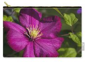 Lovely Magenta Pink Clematis Blossom Carry-all Pouch