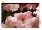 Lovely Pink Rhododendrons With Border Carry-all Pouch
