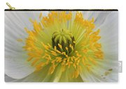 Lovely White Flower Square Carry-all Pouch