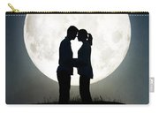 Lovers In Front Of A Full Moon Carry-all Pouch