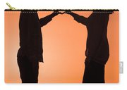 Lovers Making A Heart Shape At Sunset Carry-all Pouch