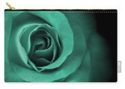 Love's Eternal Teal Green Rose Carry-all Pouch