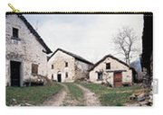 Low Angle View Of Houses In A Village Carry-all Pouch