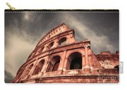 Low Angle View Of The Roman Colosseum Carry-all Pouch by Stefano Senise