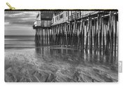 Low Tide At Orchard Beach Black And White Carry-all Pouch by Jerry Fornarotto