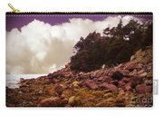 Low Tide Shoreline Closeup With Clouds Carry-all Pouch