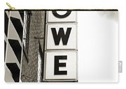 Lowe Drug Store Sign Bw Carry-all Pouch by Andee Design
