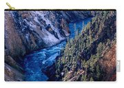 Lower Falls Into Yellowstone River Carry-all Pouch