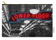 Lower Floor Selective Black And White Carry-all Pouch