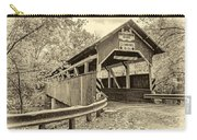 Lower Humbert Covered Bridge Sepia Carry-all Pouch