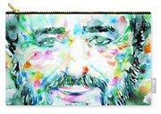 Luciano Pavarotti - Watercolor Portrait Carry-all Pouch