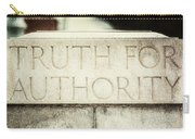 Lucretia Mott Truth For Authority Carry-all Pouch