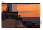 Ludington Pier And Lighthouse Carry-all Pouch