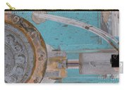 Lug Nut Wheel Left Turquoise And Copper Carry-all Pouch